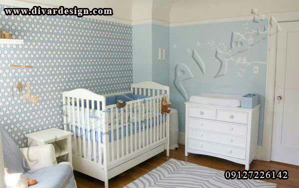 رنگ آبی برای اطاق کودک